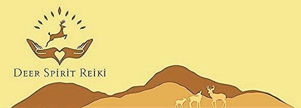 hills with three deer in front beow the Deer Spiri Reiki logo