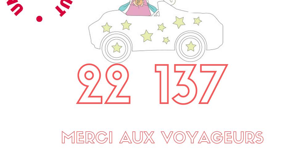 Merci aux 22 137 voyageurs donateurs !