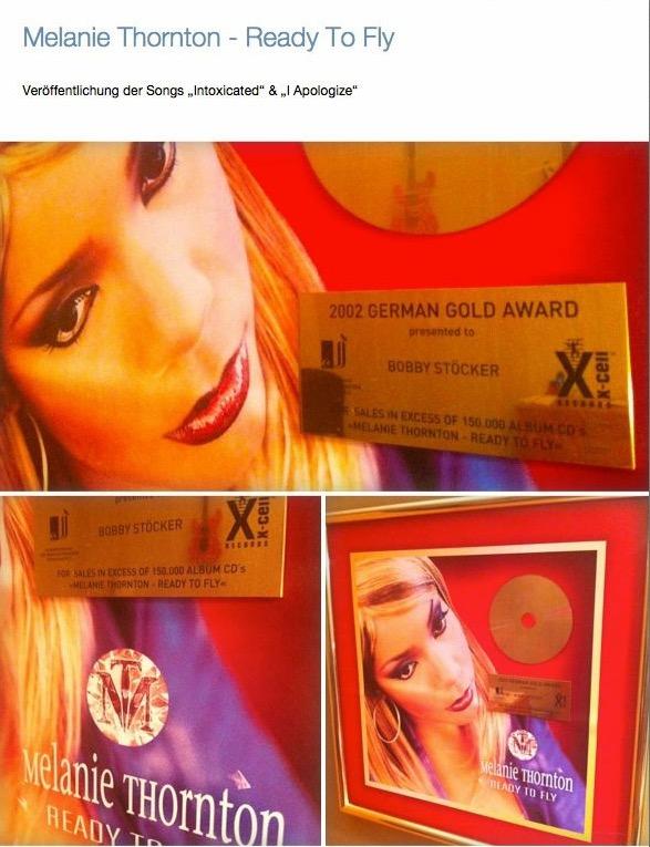 Goldene CD Melanie Thornton