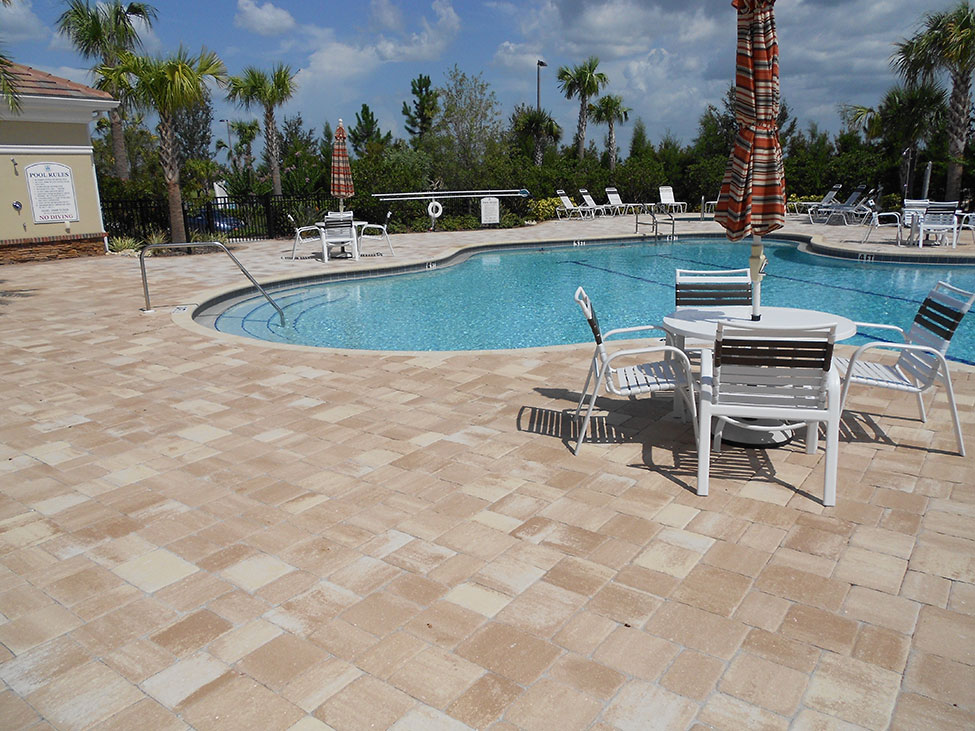 commercial brick paver pool deck installations tampa, pasco, hernando, hillsborough