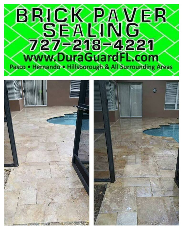 Travertine sealer stripping 5