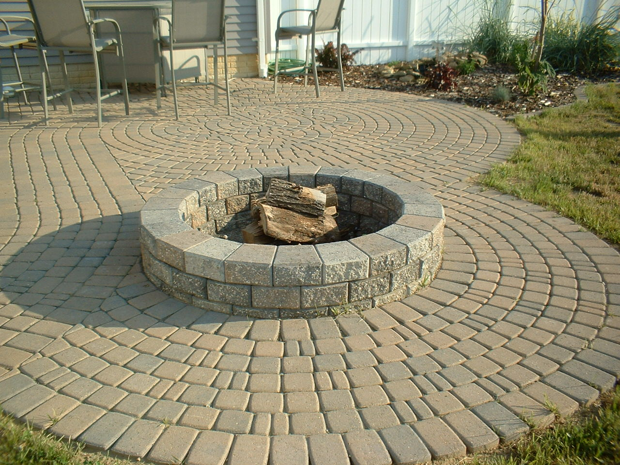 brick paver fire pit installations tampa, pasco, hernando, hillsborough 2