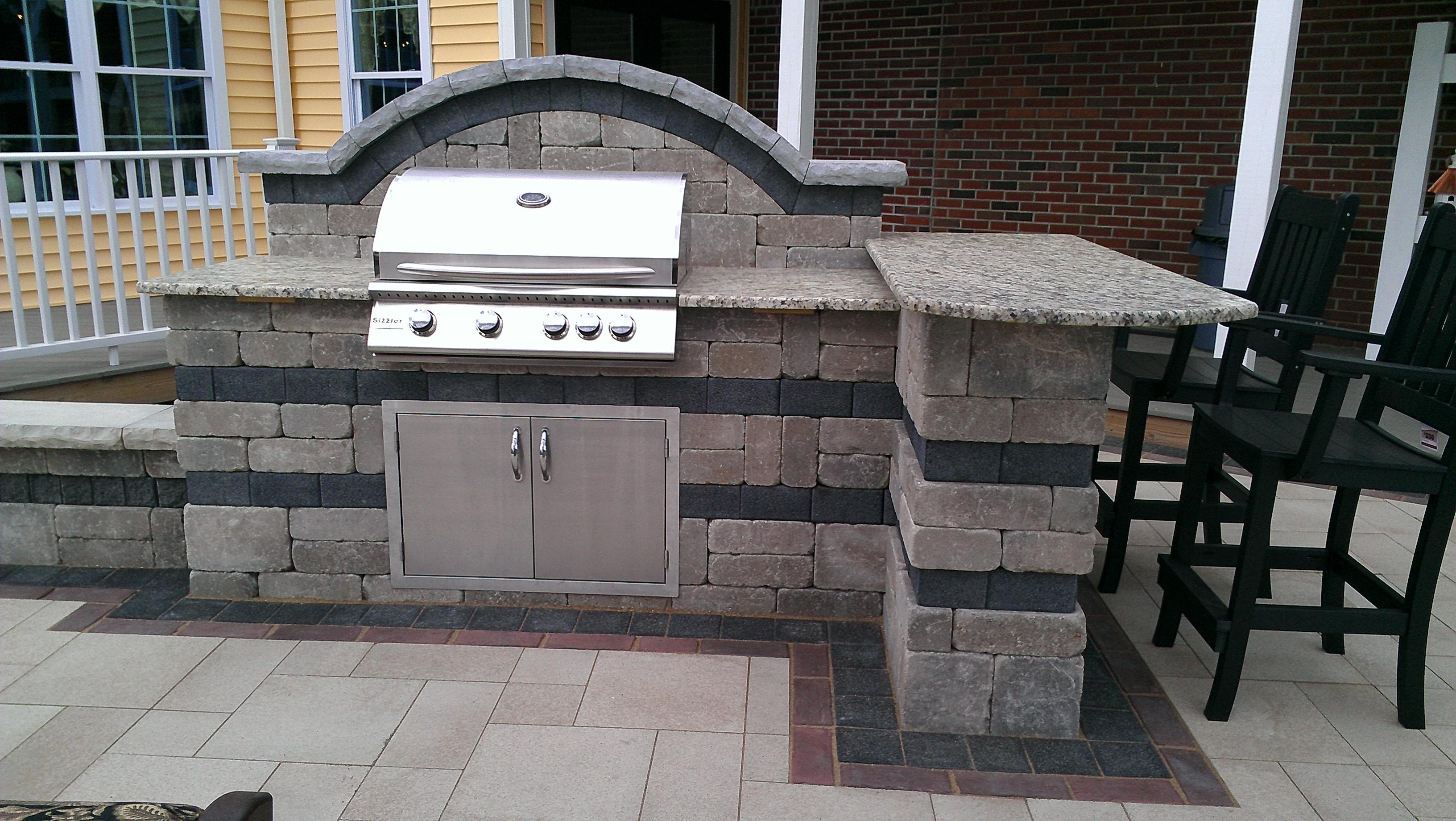 brick paver outdoor kitchen installations tampa, pasco, hernando, hillsborough 6