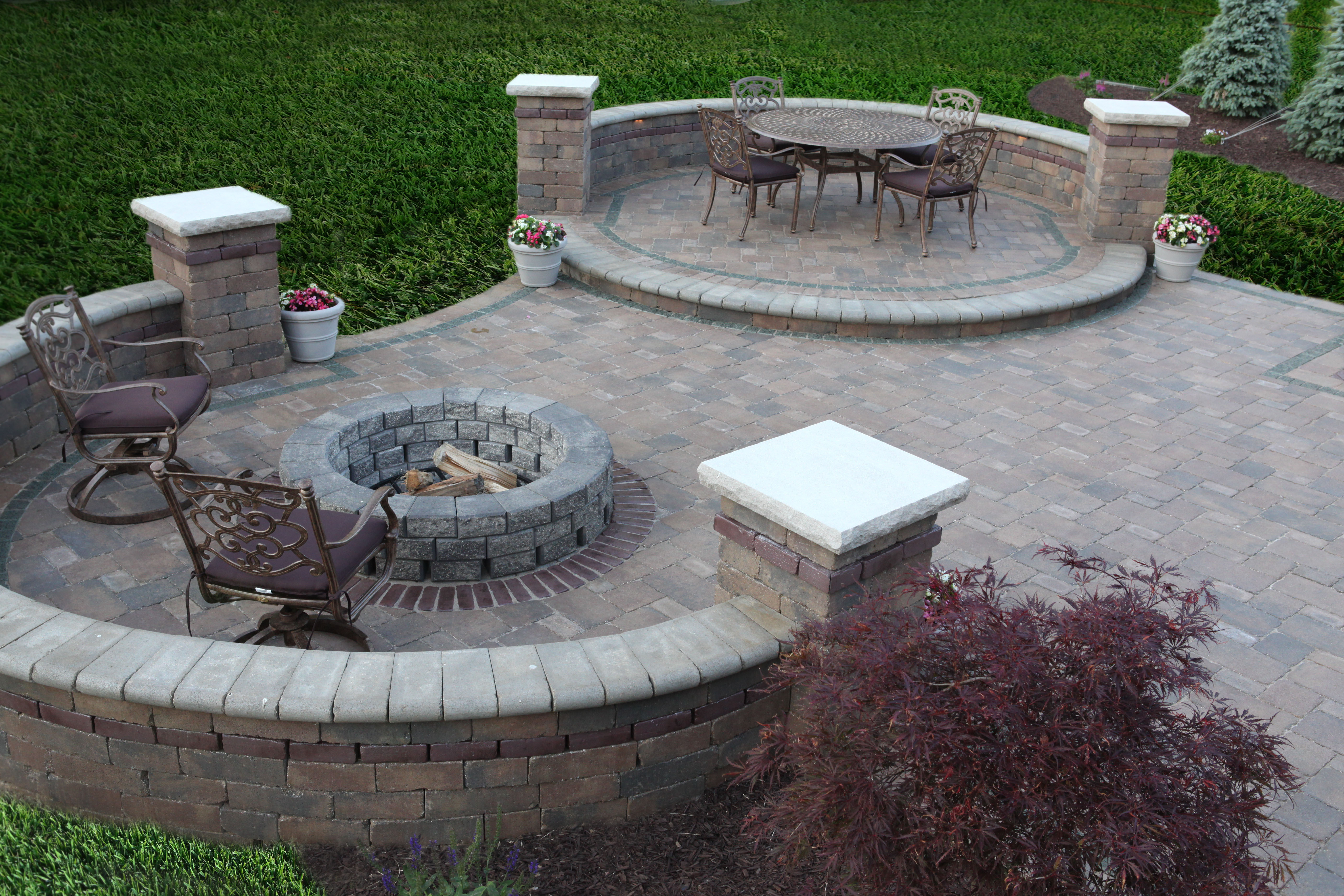 brick paver fire pit installations tampa, pasco, hernando, hillsborough