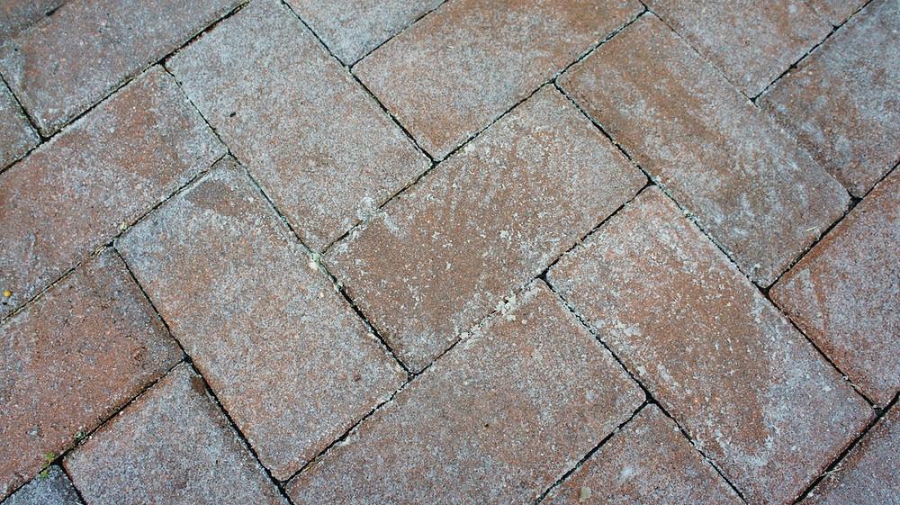 Faled solvent based brick paver sealant.