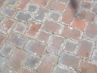 What is efflorescence in brick pavers?