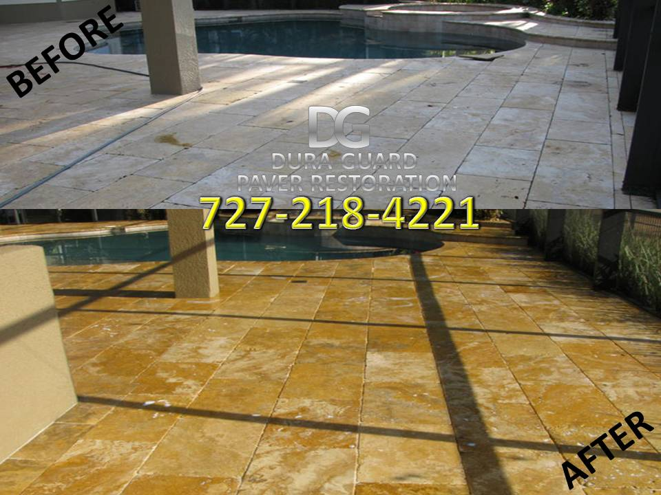 Travertine sealing