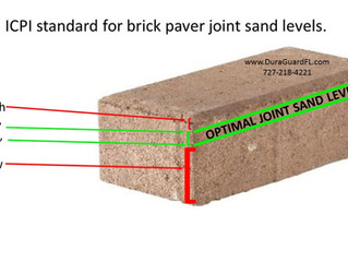 The importance of paver joint sand. Should you re-sand brick paver joints?