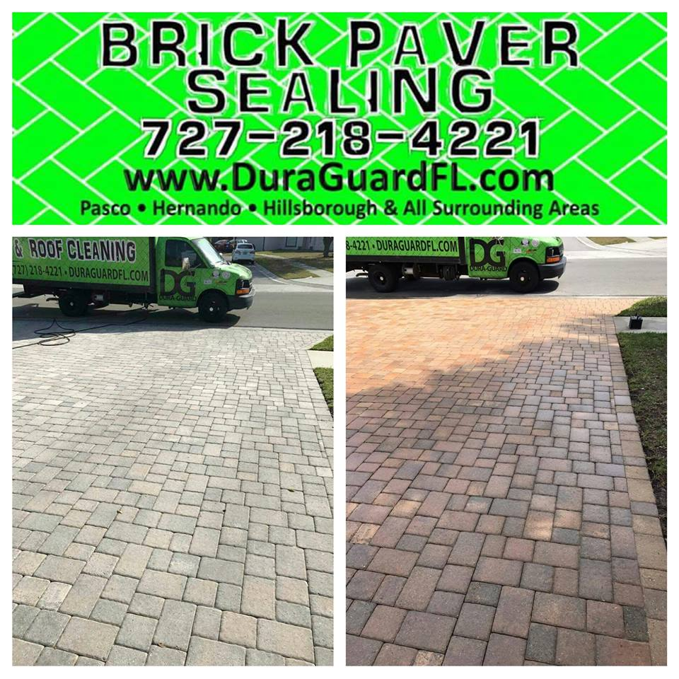 Brick paver sealing with tint