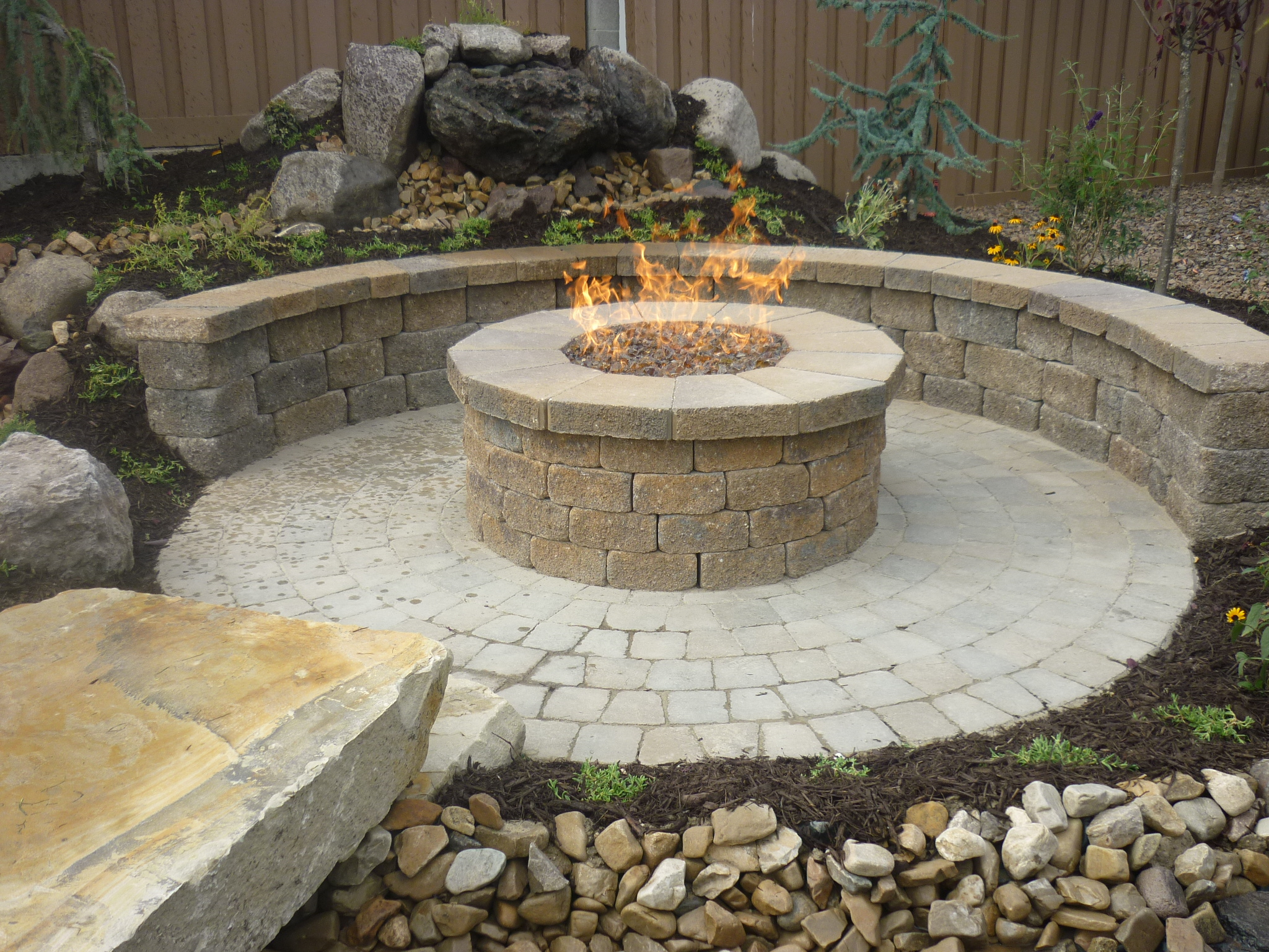 brick paver fire pit installations tampa, pasco, hernando, hillsborough 5