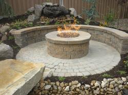 brick paver fire pit installations tampa, pasco, hernando, hillsborough 5