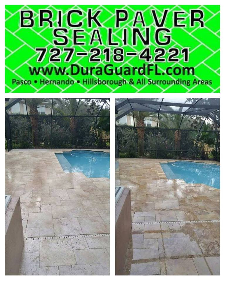 Travertine sealer stripping 2