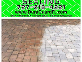 Brick paver restoration with permanent color tint in sealer