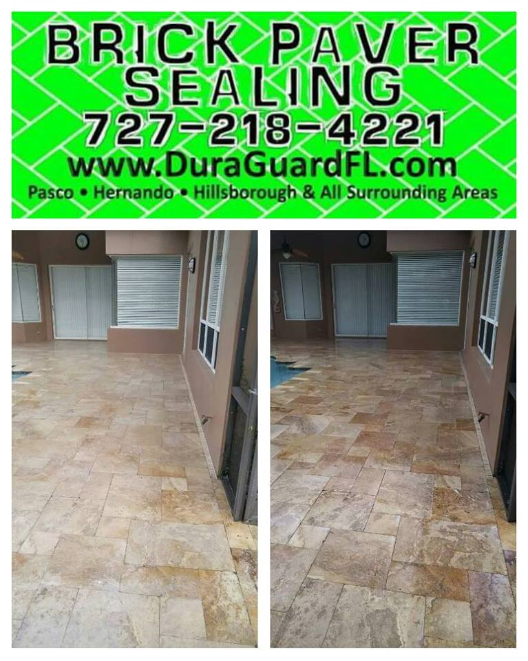 Travertine sealer stripping 4