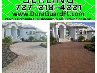 Brick paver stripping and sealing in Hillsborough county, Florida.