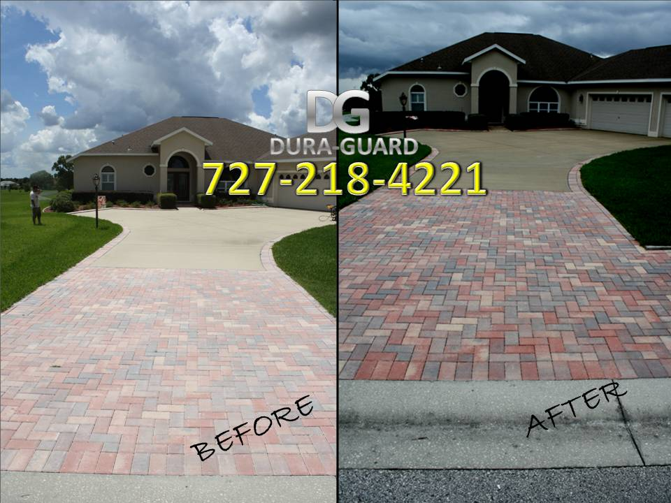Concrete and Brick Paver Sealing