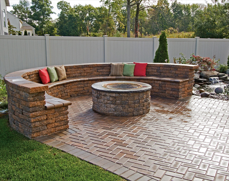sealed brick paver firepit and seating area installations tampa, pasco, hernando, hillsborough