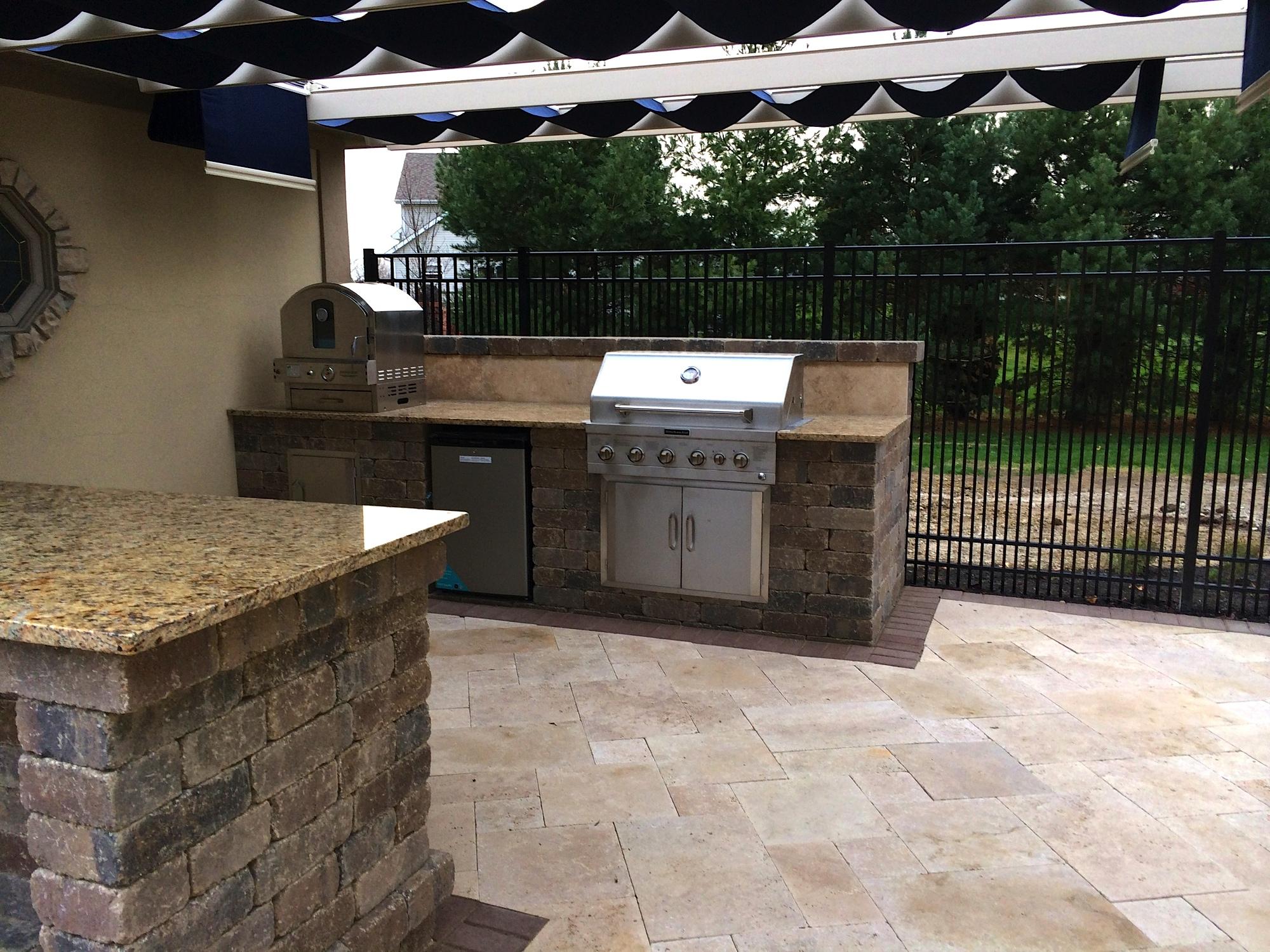 brick paver outdoor kitchen installations tampa, pasco, hernando, hillsborough 3