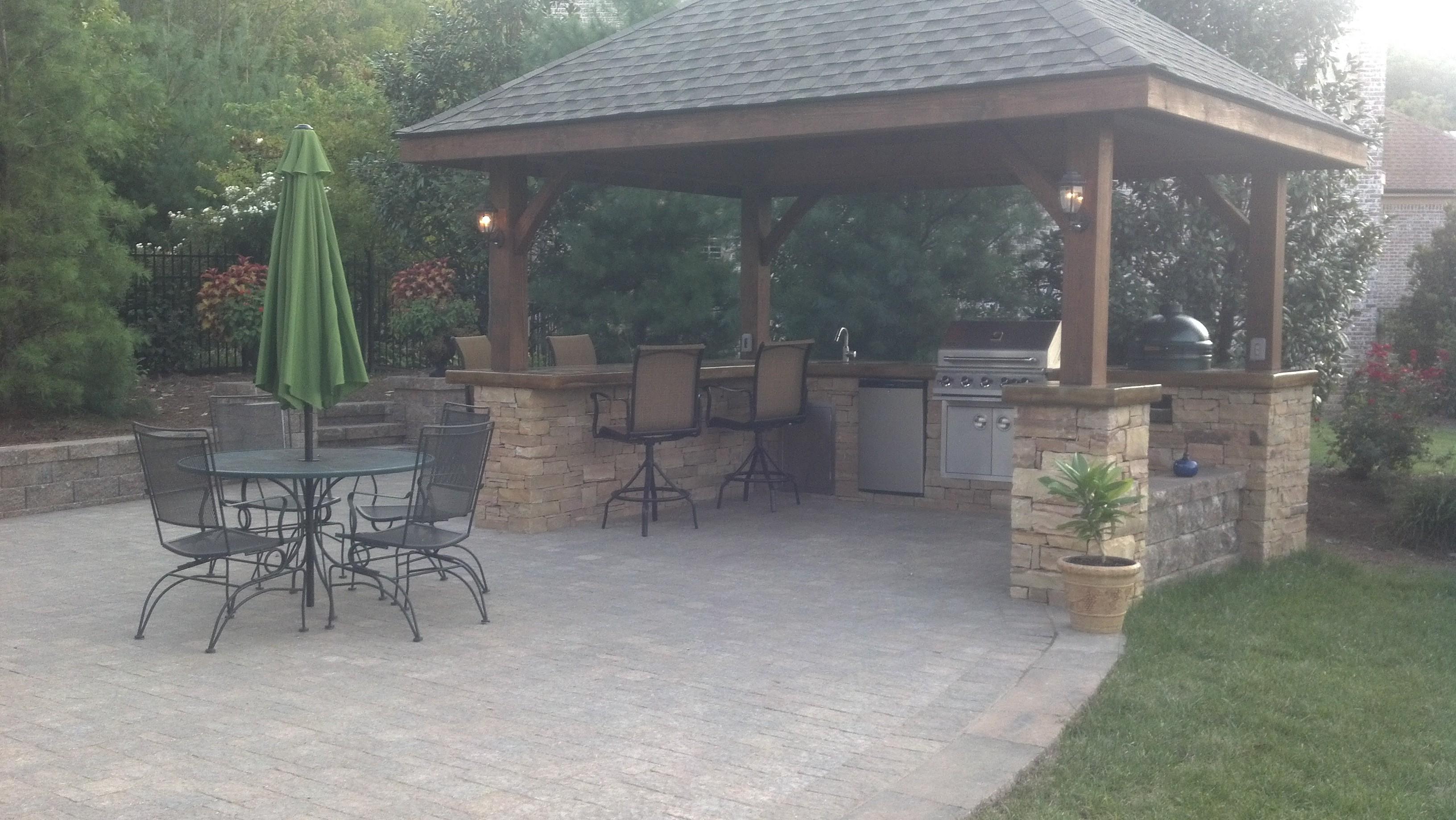 brick paver outdoor kitchen installations tampa, pasco, hernando, hillsborough 8