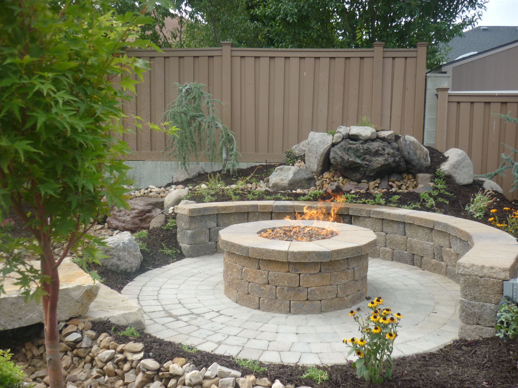 brick paver fire pit installations tampa, pasco, hernando, hillsborough 4