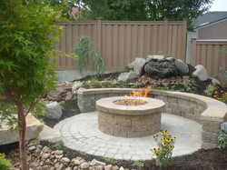 brick paver fire pit installations tampa, pasco, hernando, hillsborough 4