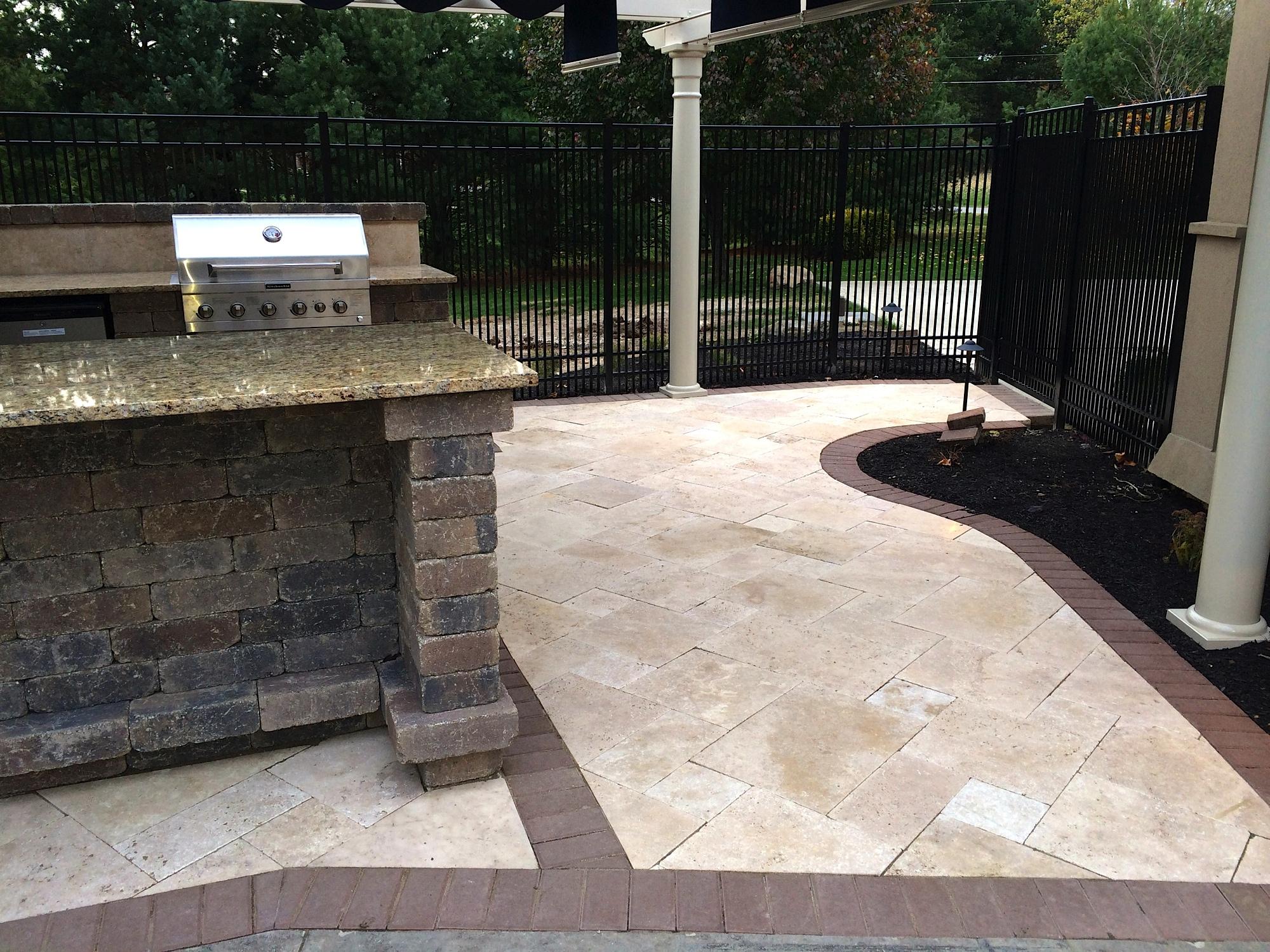 brick paver outdoor kitchen installations tampa, pasco, hernando, hillsborough 5