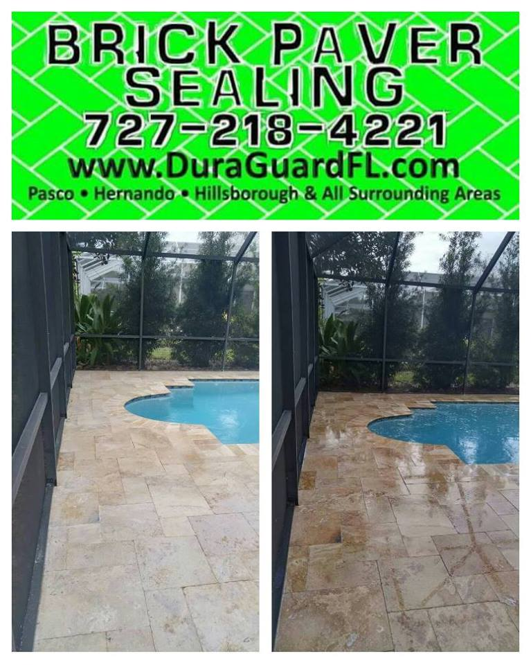 Travertine sealer stripping 3
