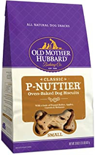 Old Mother Hubbard Classic P-Nuttier Biscuits Baked Dog Treats, Small, 20 Ounce