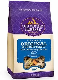 Old Mother Hubbard Classic Original Assortment Biscuits Baked Dog Treats, Mini,