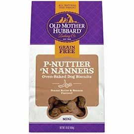 Old Mother Hubbard Mini P-Nuttier 'N Nanners Grain-Free Biscuits Baked Dog Treat