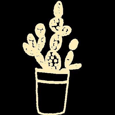 Hand draw cactus icon.
