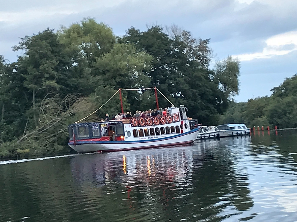 Party boat at Salhouse