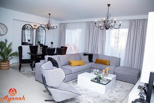 Grey L sofa