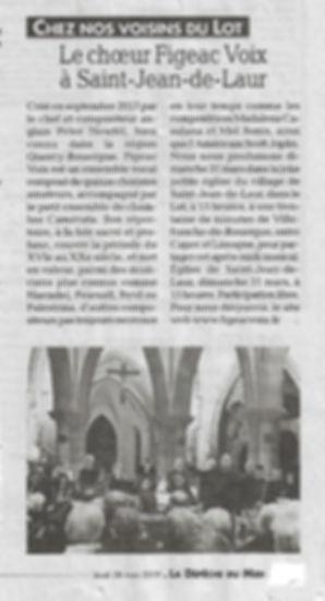 Le choeur FigeacVoix à Saint Jean de Laur