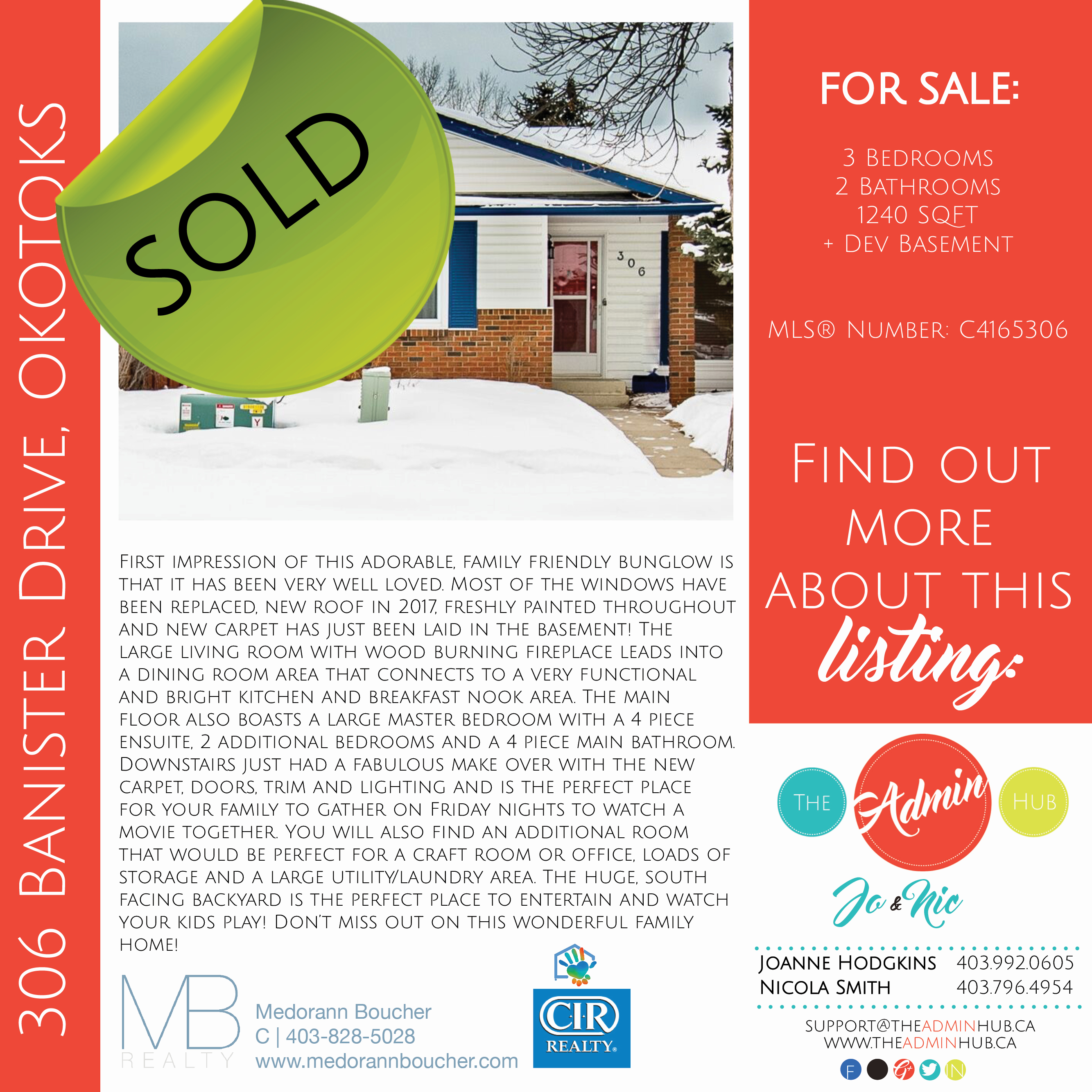 SOLD 306 Banister Drive