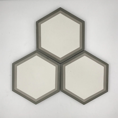 "8"" Soria VI Hex Cement Tile"