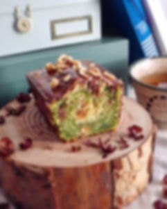 Cake matcha-noisettes _#patisserie #noco