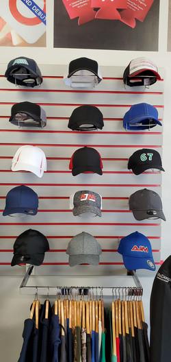 Wide selection of baseball caps