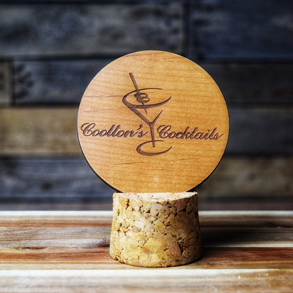 Stained Alder Wooden Engraved Coaster