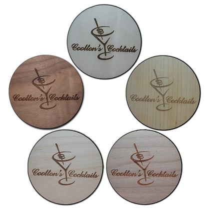 Variety Pack Stained Wooden Engraved Coasters