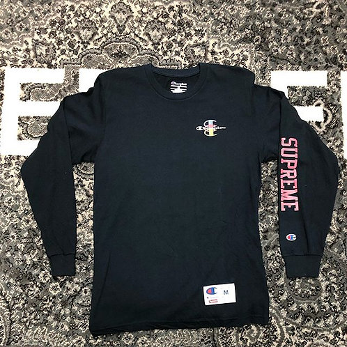 Navy blue supreme x champion