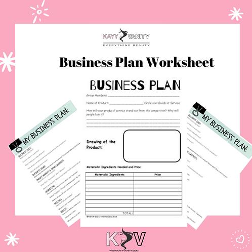 Business Plan Worksheet