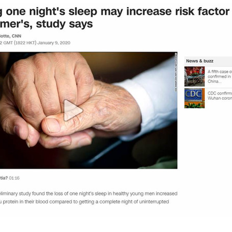 One night of sleep loss tied to increased blood levels of the protein tau