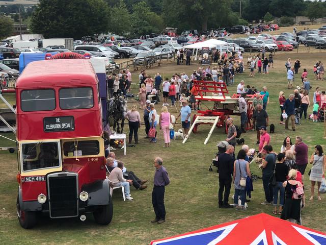 Vintage double decker bus visits Sandon show