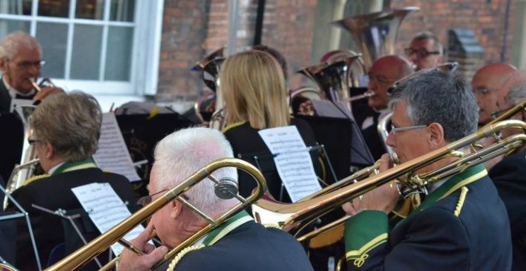 Brass Band at Sandon Fete