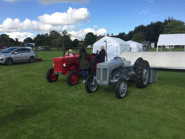 Vintage tractors at Sandon show