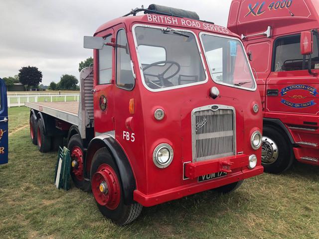 British road services, Bristol vintage red lorry flat back
