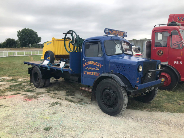 Vintage flat bed lorry, Uttoxeter with Bamford wuffler