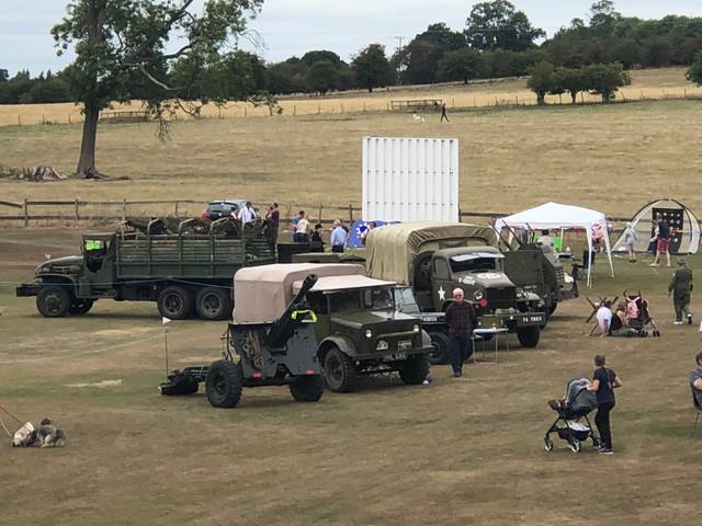 Ex military vehicles at Sandon Fete & Transport show