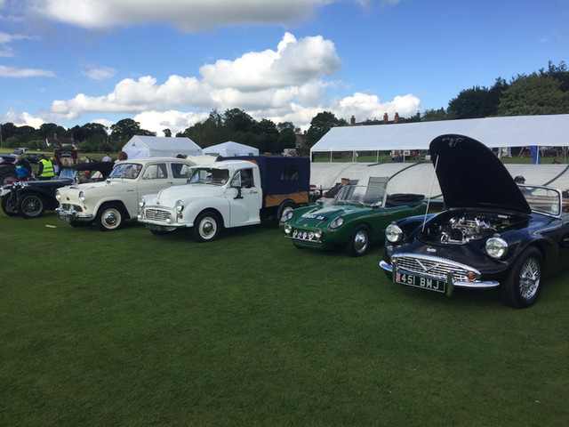Vintage cars at Sandon show